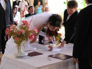 Podpis jsem neměla natrénovaný tak vypadá jako od prvňáčka :-)