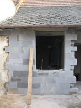 Budoucí okno do ložnice