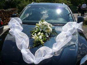 ozdoba na auto, len kvety ine
