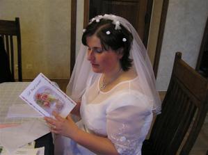čtení blahopřání ke svatbě