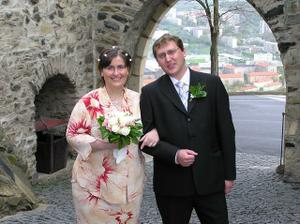 naše společná fotka po nádherném svatebním dni