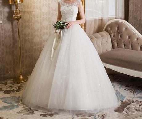 Dlhé svadobné šaty - 16 veľkostí - Obrázok č. 1
