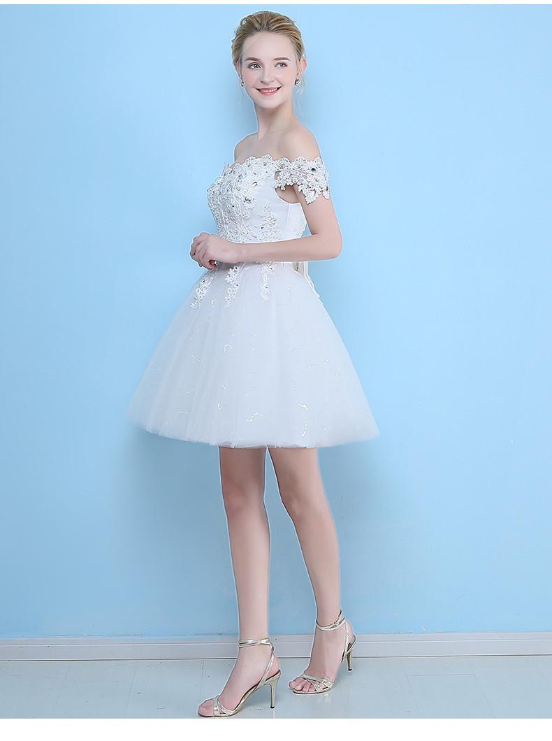 Krátke svadobné/popolnoč. šaty-8 veľkostí - Obrázok č. 3