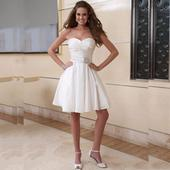 Krátke svadobné/popolnoč. šaty-9 veľkostí-2 farby, 36