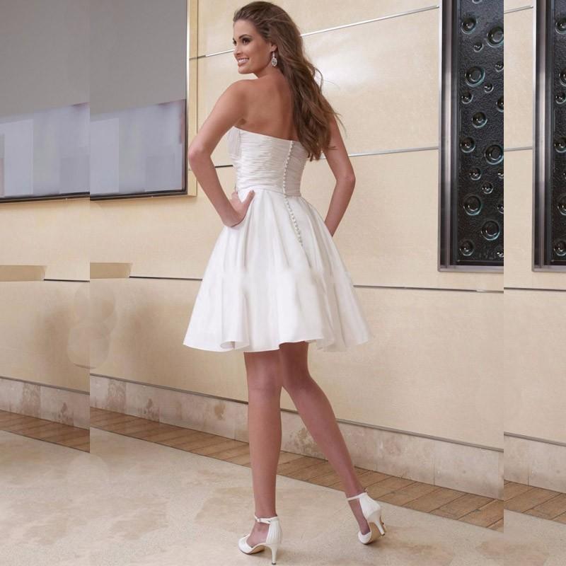 Krátke svadobné/popolnoč. šaty-9 veľkostí-2 farby - Obrázok č. 2