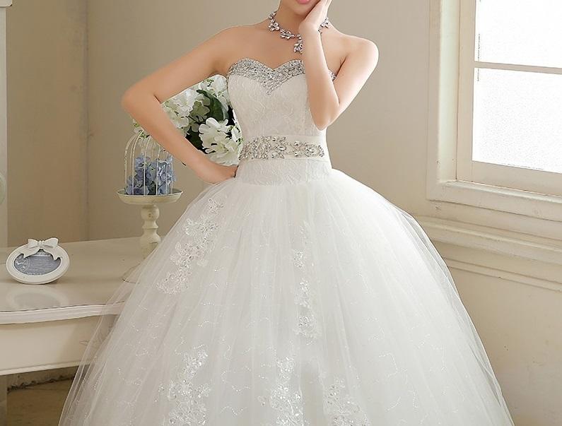 Dlhé svadobné šaty - 16 veľkostí - Obrázok č. 3