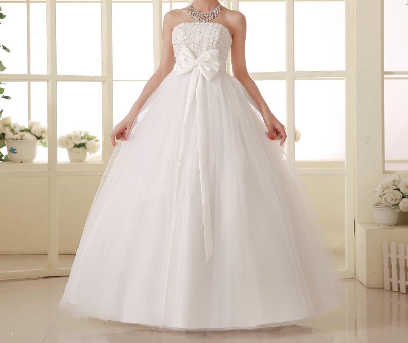 Dlhé svadobné šaty - 16 veľkostí - aj pre tehotné - Obrázok č. 1