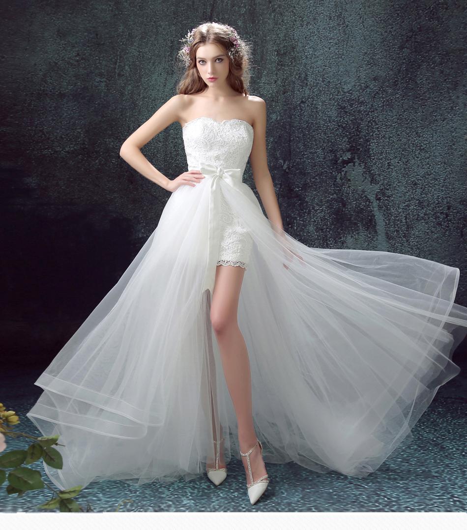Dlhé svadobné šaty - 11 veľkostí, 2v1, 2 farby - Obrázok č. 1