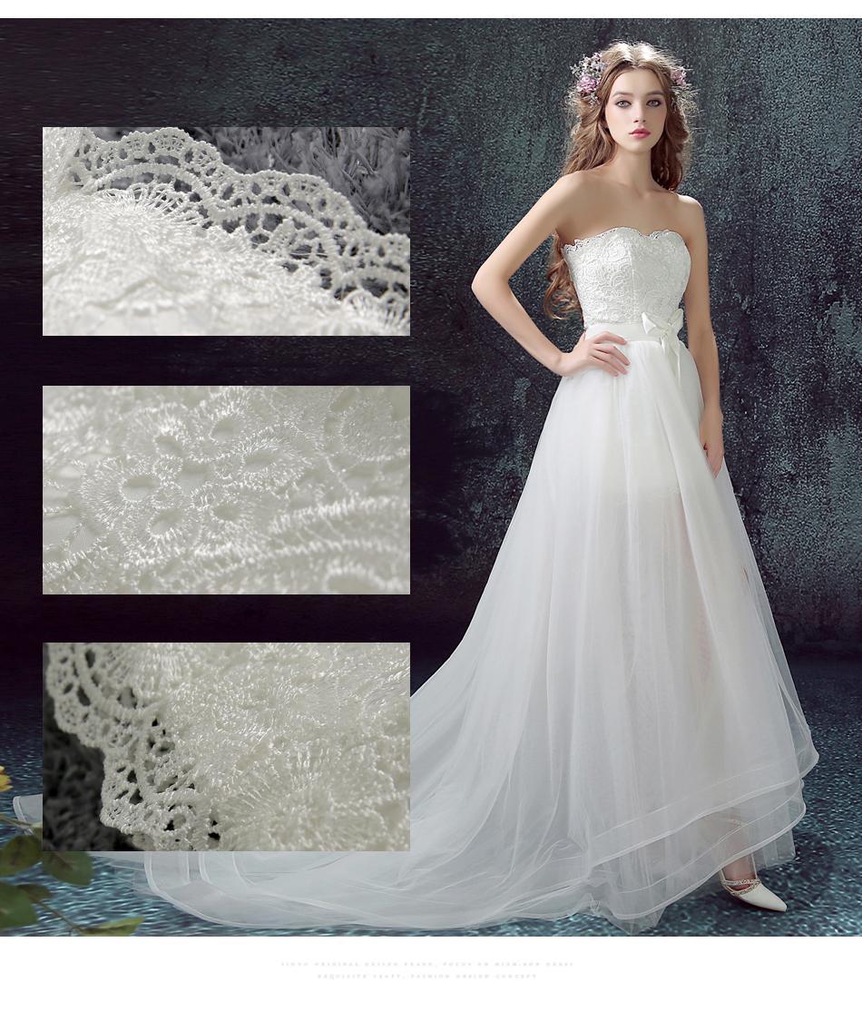 Dlhé svadobné šaty - 11 veľkostí, 2v1, 2 farby - Obrázok č. 2