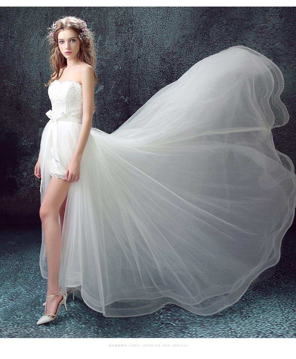 Dlhé svadobné šaty - 11 veľkostí, 2v1, 2 farby - Obrázok č. 4