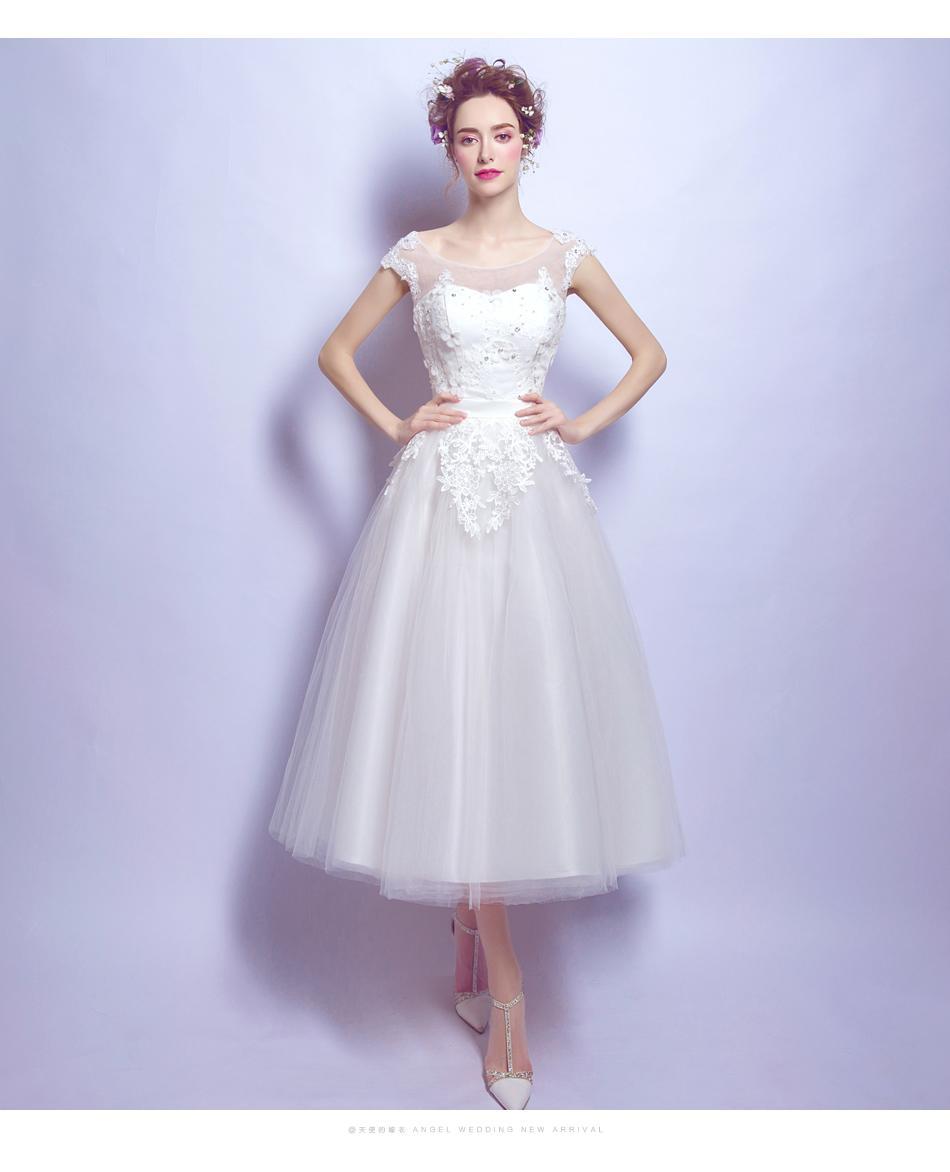 Midi svadobné šaty - 7 veľkostí - Obrázok č. 1