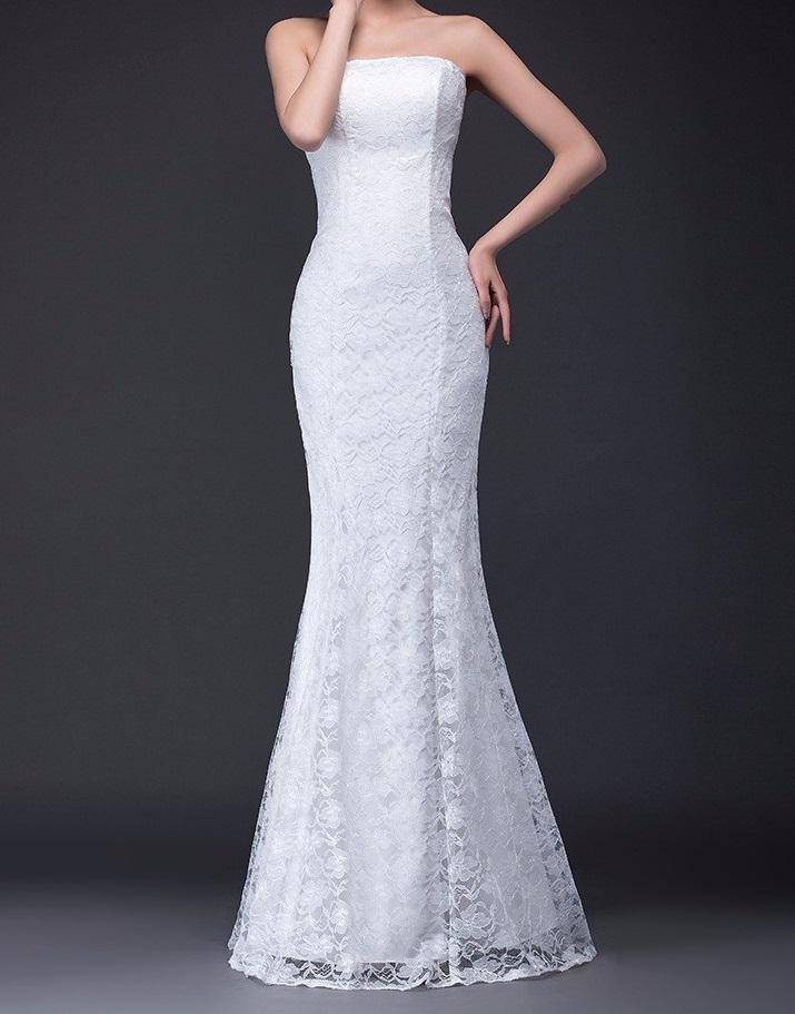 Dlhé svadobné šaty-4 veľkosti,3 farby,2 prevedenia - Obrázok č. 1