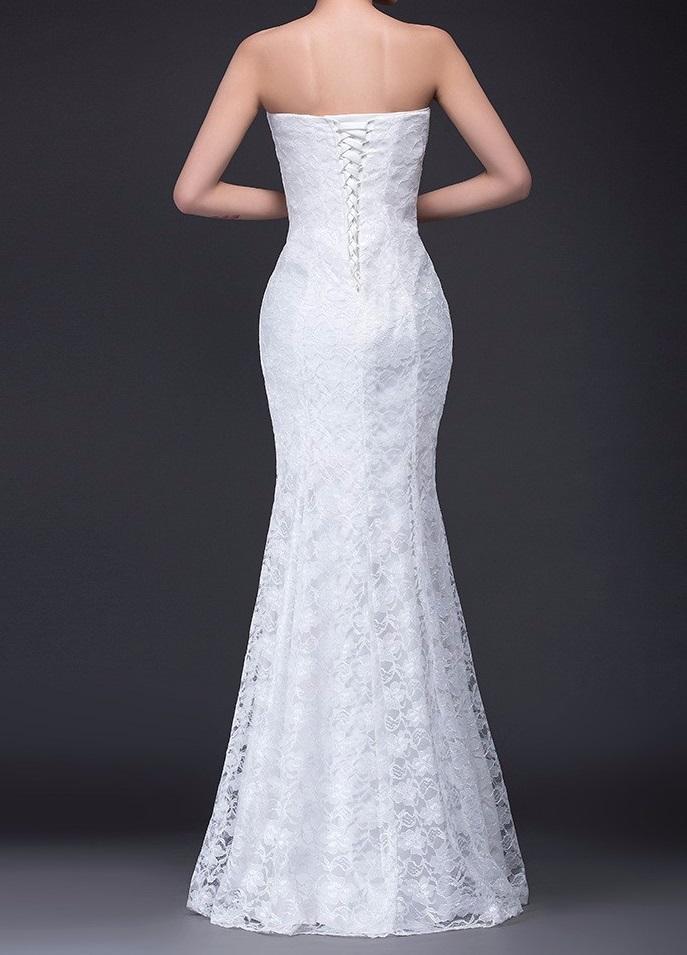 Dlhé svadobné šaty-4 veľkosti,3 farby,2 prevedenia - Obrázok č. 2