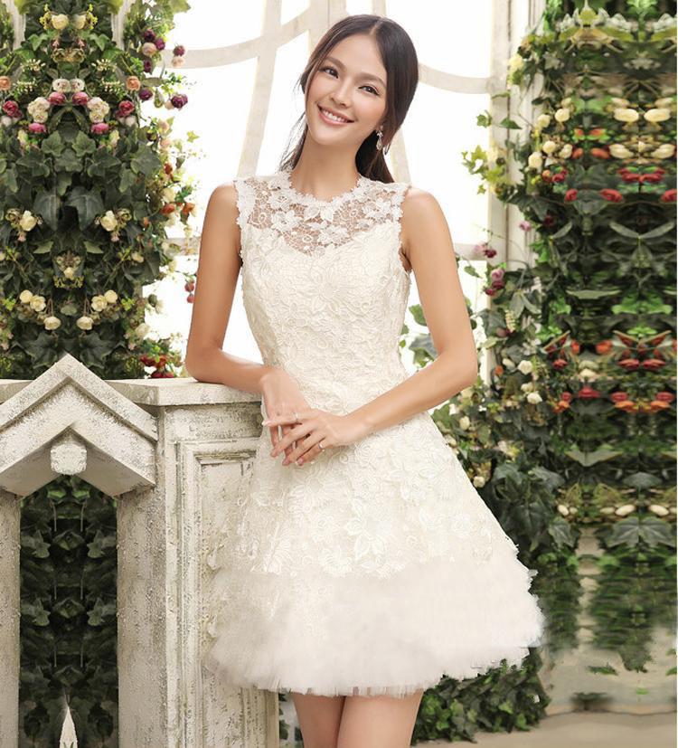 Krátke svadobné/popolnoč. šaty-8 veľkostí-3 farby - Obrázok č. 1
