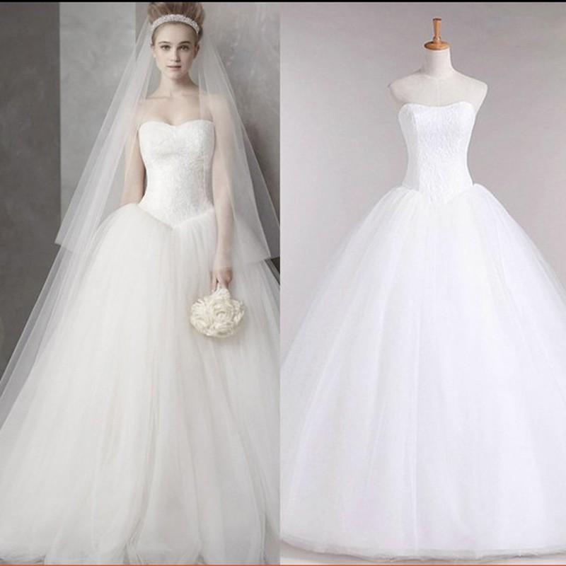 Dlhé svadobné šaty - 16 veľkostí, 3 varianty - Obrázok č. 1