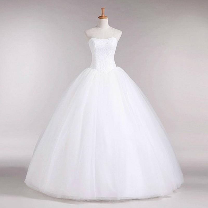 Dlhé svadobné šaty - 16 veľkostí, 3 varianty - Obrázok č. 3