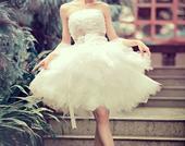 Krátke svadobné/popolnoč. šaty-5 veľkostí, 38