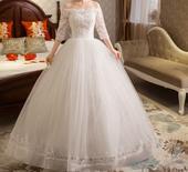 Dlhé svadobné šaty - 16 veľkostí, 50