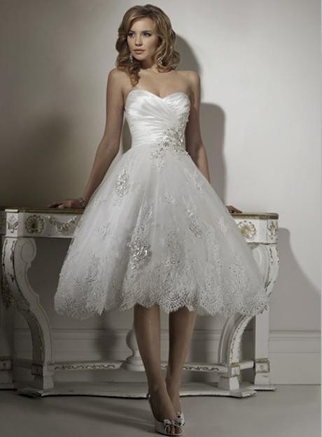Krátke svadobné/popolnoč. šaty-8 veľkostí-2 farby - Obrázok č. 1