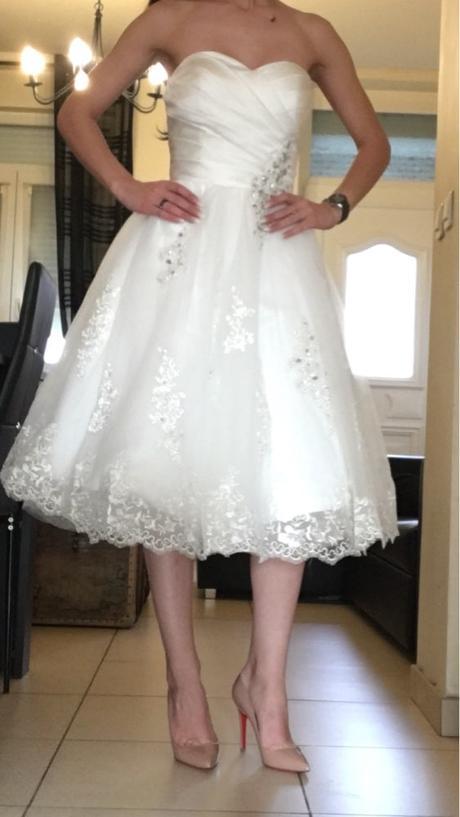 Krátke svadobné/popolnoč. šaty-8 veľkostí-2 farby - Obrázok č. 2
