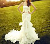 Dlhé svadobné šaty - 8 veľkostí, 2 farby, 36