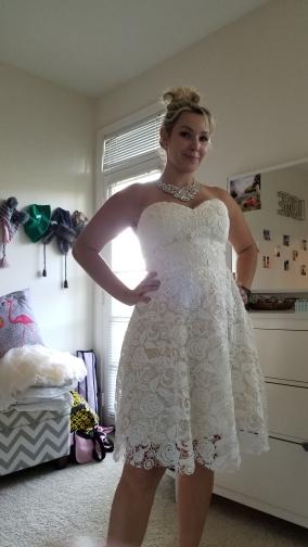 Krátke popolnočné šaty - 34-50 - Obrázok č. 3