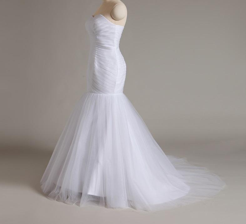 Dlhé svadobné šaty - 13 veľkostí, 3 farby - Obrázok č. 3