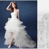 Asymetrické svadobné šaty - 8 veľkostí, 38