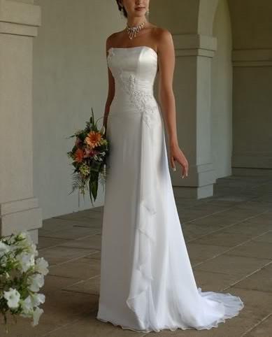 Dlhé svadobné šaty - 16 veľkostí, 5 farieb - Obrázok č. 1