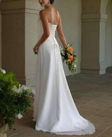 Dlhé svadobné šaty - 16 veľkostí, 5 farieb - Obrázok č. 2