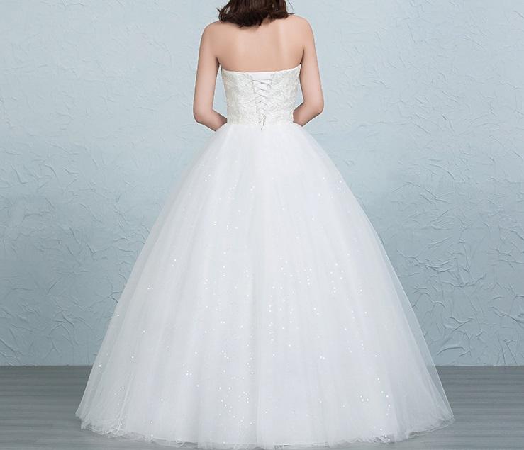 Dlhé svadobné šaty - 16 veľkostí 5 - Obrázok č. 2