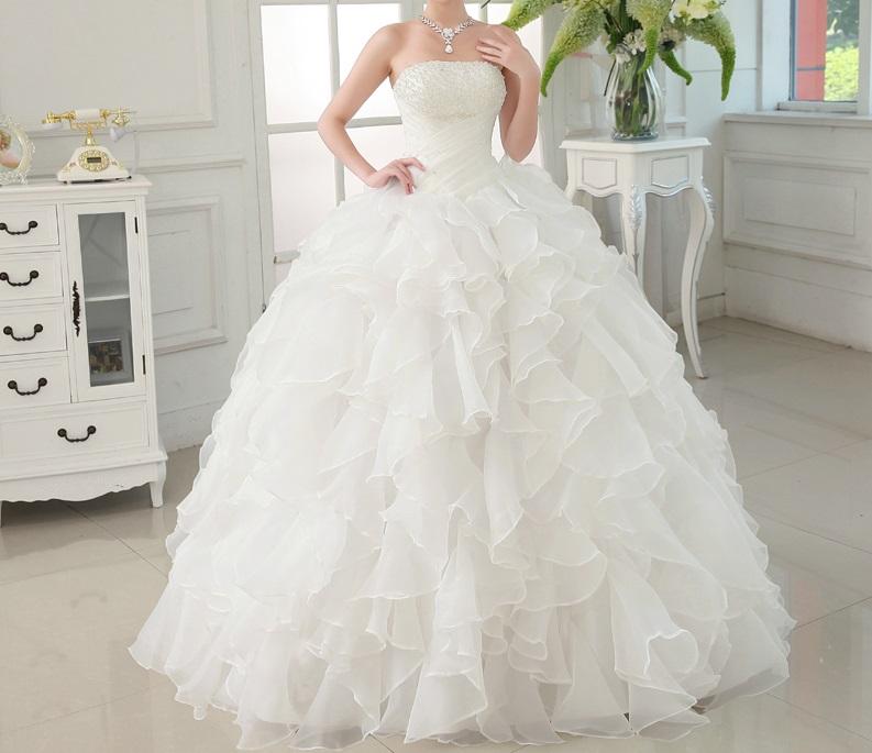 Dlhé svadobné šaty - 4 veľkosti - Obrázok č. 1