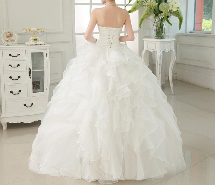 Dlhé svadobné šaty - 4 veľkosti - Obrázok č. 3