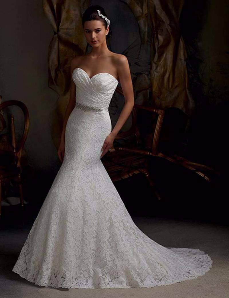 Dlhé svadobné šaty - 11 veľkostí, 2 farby - Obrázok č. 1