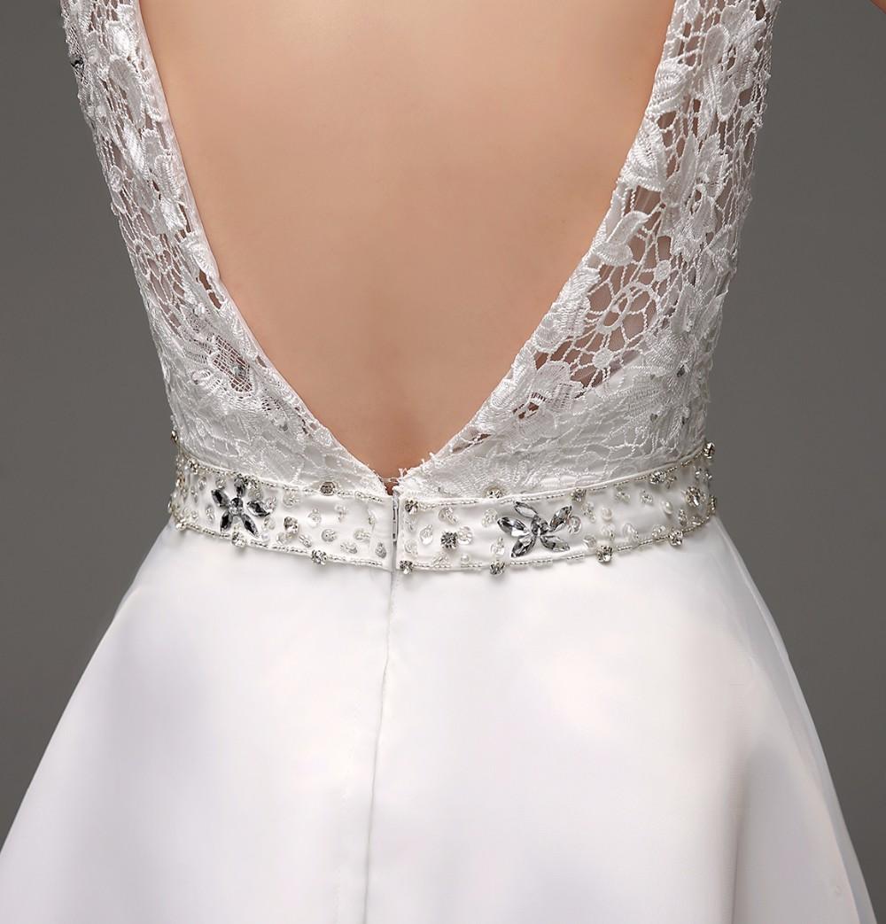 Dlhé svadobné šaty - 8 veľkostí, 2 farby - Obrázok č. 2