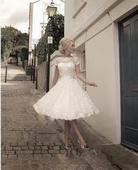 Krátke svadobné/popolnoč. šaty-8 veľkostí-2 farby, 40