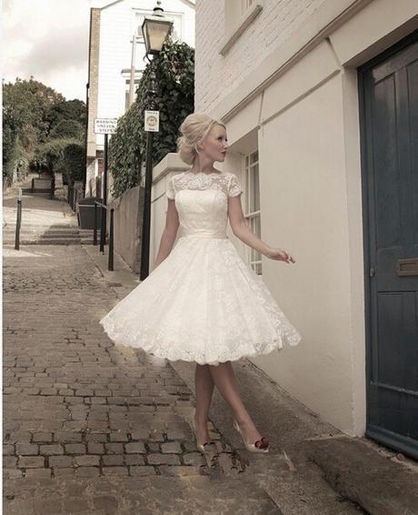 Krátke svadobné/popolnoč. šaty-15 veľkostí-3 farby - Obrázok č. 1