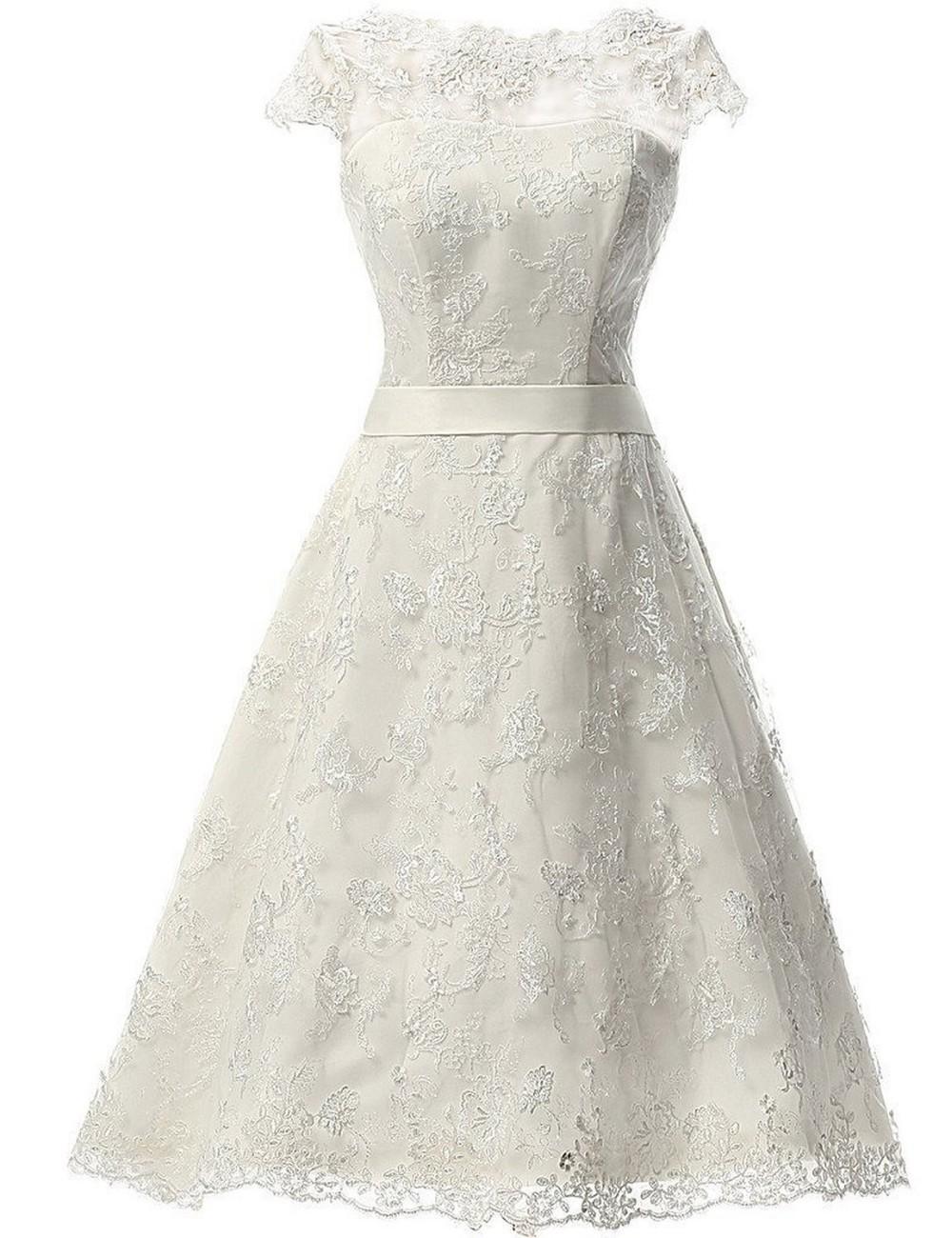 Krátke svadobné/popolnoč. šaty-15 veľkostí-3 farby - Obrázok č. 3