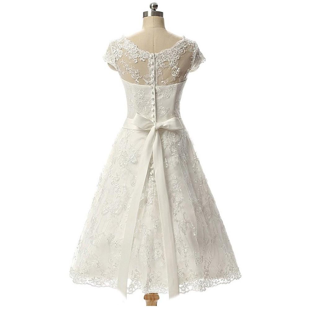 Krátke svadobné/popolnoč. šaty-15 veľkostí-3 farby - Obrázok č. 4