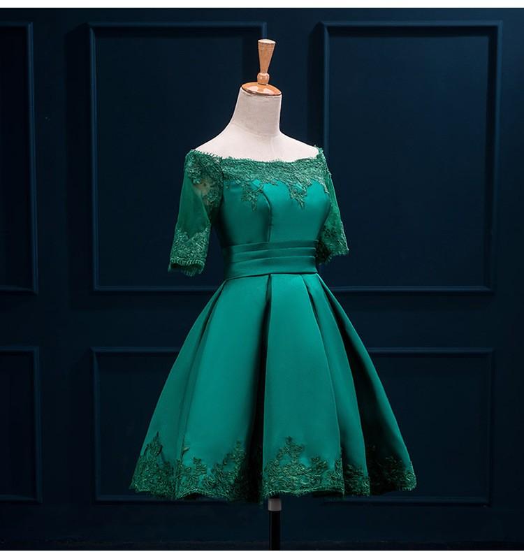 Krátke svadobné/popolnoč. šaty-10 veľk., 10 farieb - Obrázok č. 2