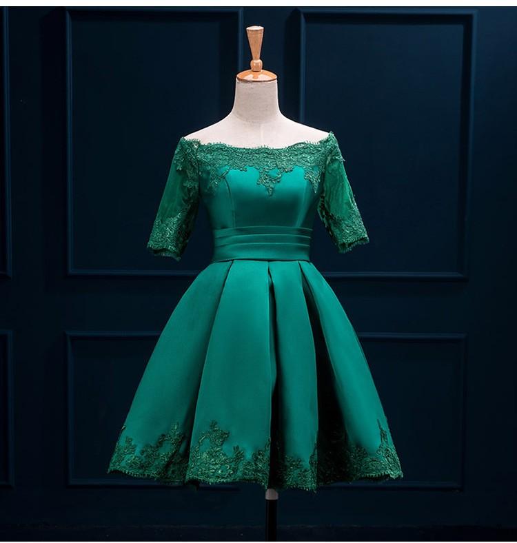 Krátke svadobné/popolnoč. šaty-10 veľk., 10 farieb - Obrázok č. 3
