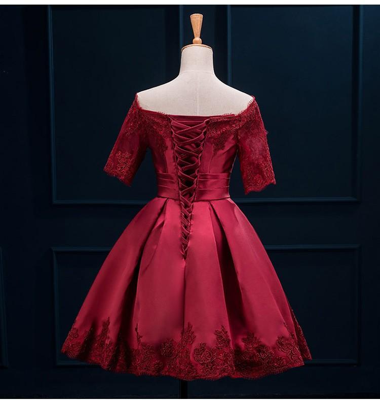 Krátke svadobné/popolnoč. šaty-10 veľk., 10 farieb - Obrázok č. 4