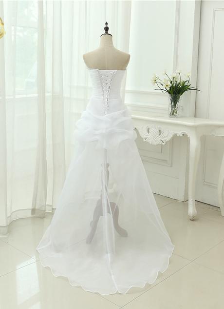 Asymetrické svadob./popol. šaty-8 veľkostí,2 farby - Obrázok č. 2