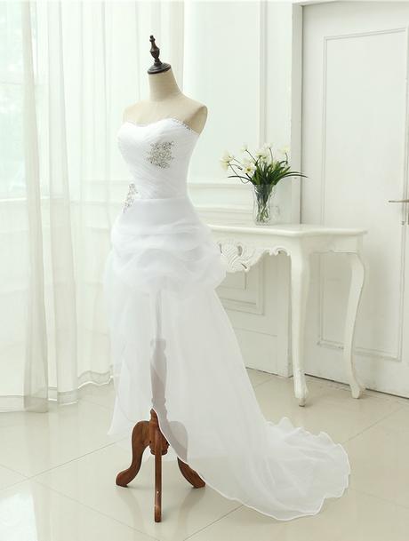 Asymetrické svadob./popol. šaty-8 veľkostí,2 farby - Obrázok č. 3