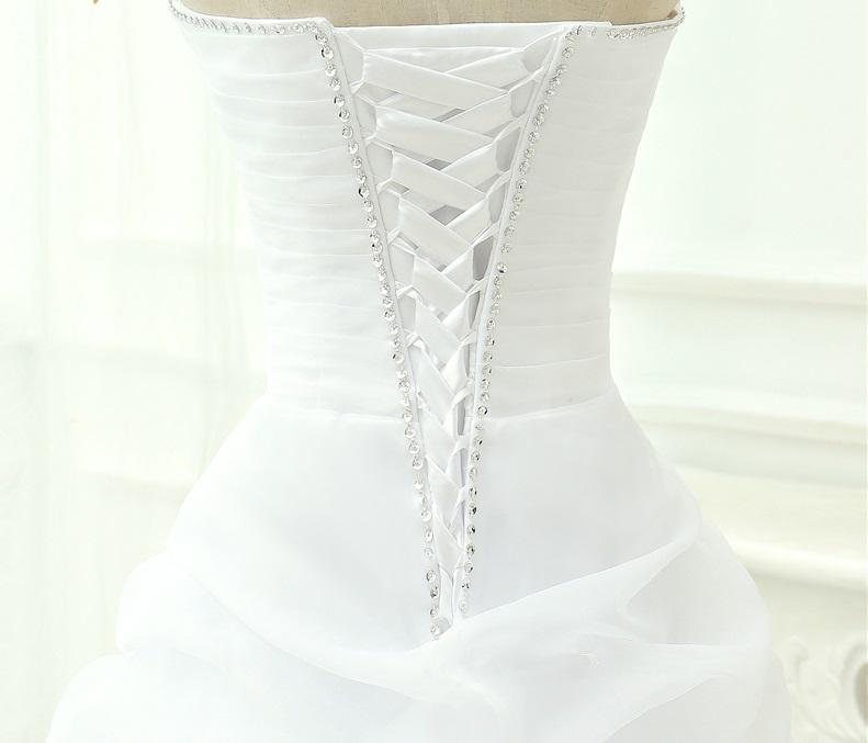 Asymetrické svadob./popol. šaty-8 veľkostí,2 farby - Obrázok č. 4