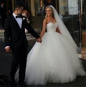 Dlhé svadobné šaty - 16 veľkostí, 2 farby, 38
