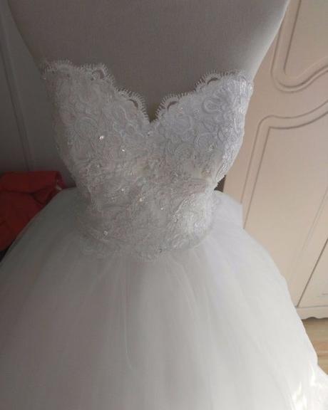 Dlhé svadobné šaty - 16 veľkostí, 2 farby - Obrázok č. 3