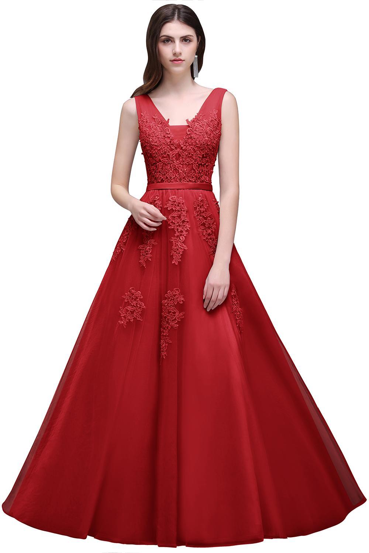 Dlhé svadobné šaty - 12 veľkostí, rôzne farby - Obrázok č. 3