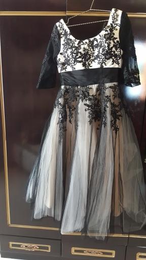 Midi svadobné šaty - 8 veľkostí, 2 farby - Obrázok č. 2