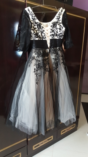 Midi svadobné šaty - 8 veľkostí, 2 farby - Obrázok č. 3